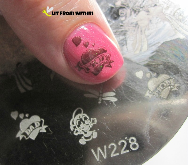 Finger Paints Black Expressionism and Anna's Nail Art W228