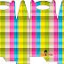 Cuadros de Colores: Caja para Lunch, para Imprimir Gratis.