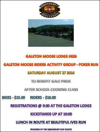 8-27 Galeton Moose Riders Poker Run