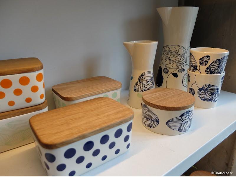 pots cermaique couvercle bois, Deigner Zoo design creation atelier Design Store copenhague