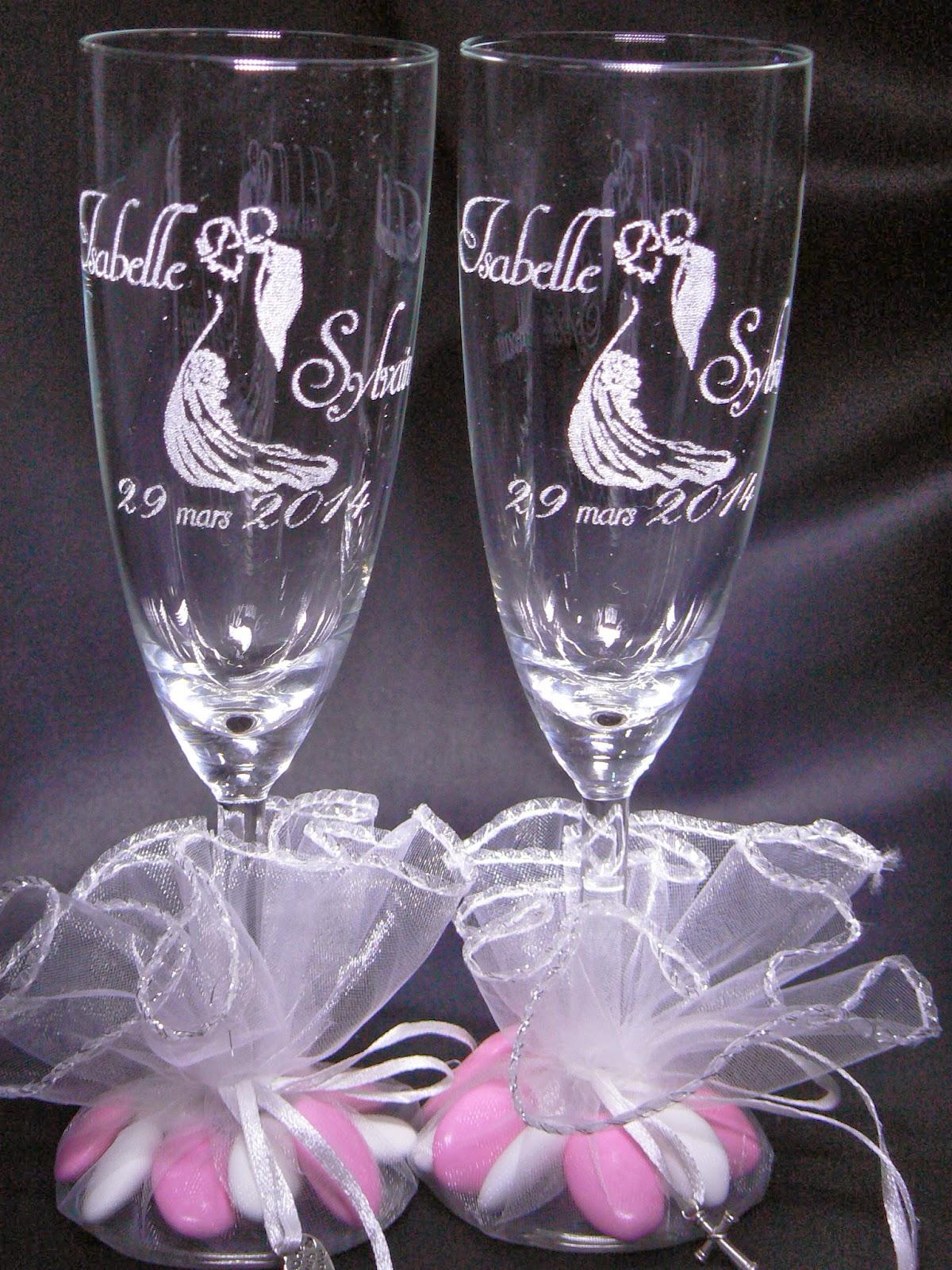gravure verre mariage cadeau invite contenant drages original personnalis - Drag Mariage