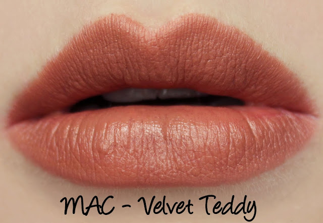 MAC The Matte Lip 2015 - Velvet Teddy Lipstick Swatches & Review