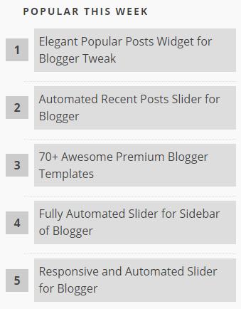[Tips] - Tạo số đếm cho Popular Posts / Bài viết phổ biến trong Blogspot Blogger