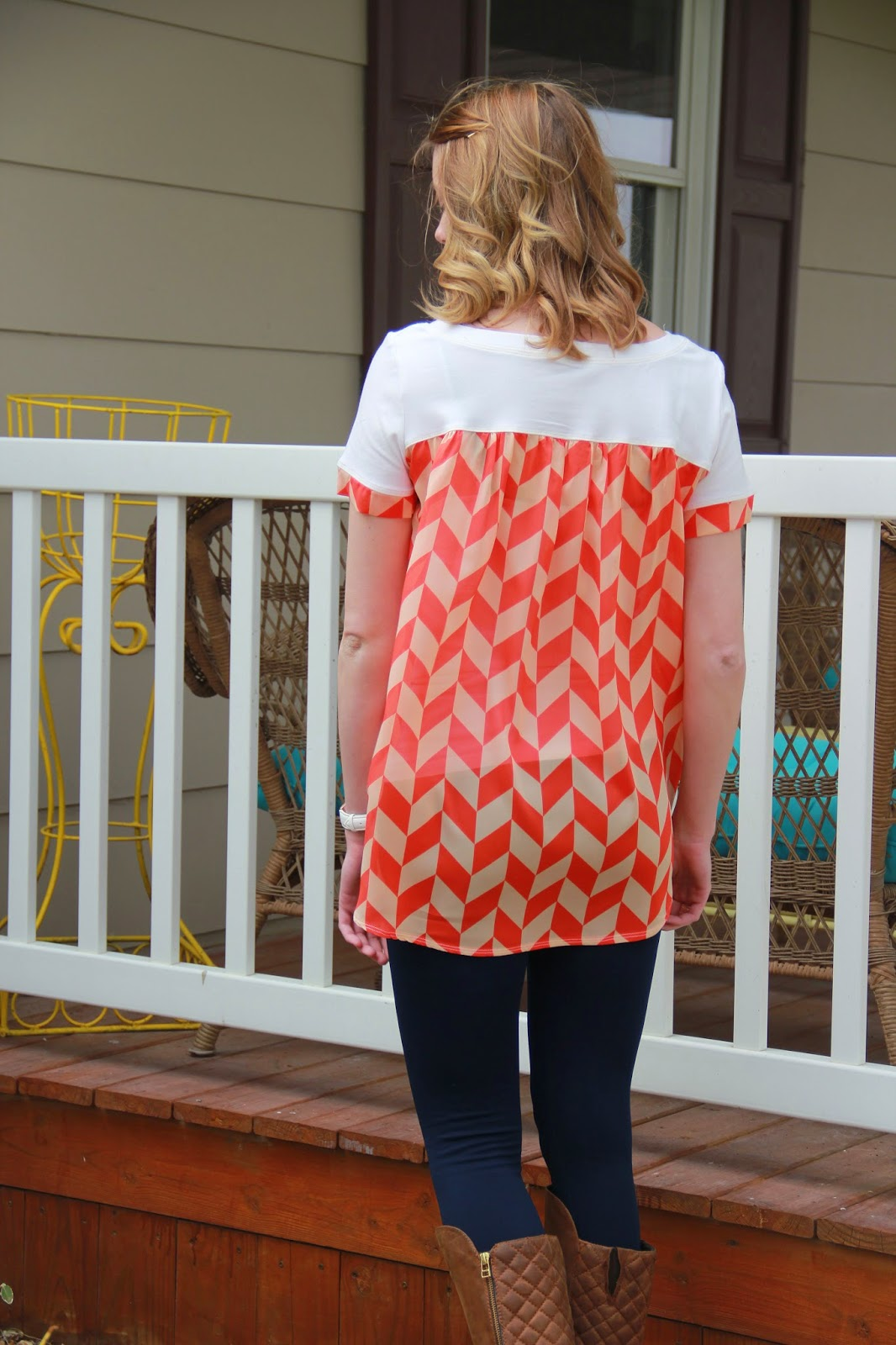 Hot Patterns Fast & Fabulous blouse back T made with Girl Charlee Fabric