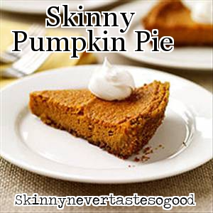 Skinny Pumpkin Pie Recipe — Dishmaps