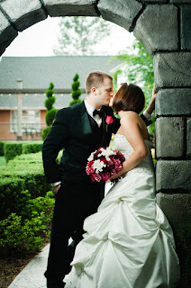 Sarah and Ryan Kiss - Posted by Patricia Stimac, Seattle Wedding Officiant