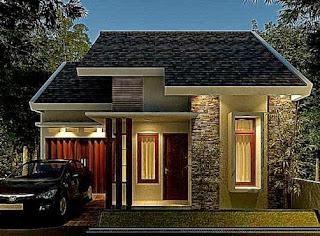 Rumah Minimalis Sederhana Modern 1 Lantai Tampak Depan Terbaru