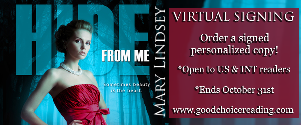 Hide From Me by Mary Lindsey Virtual Signing