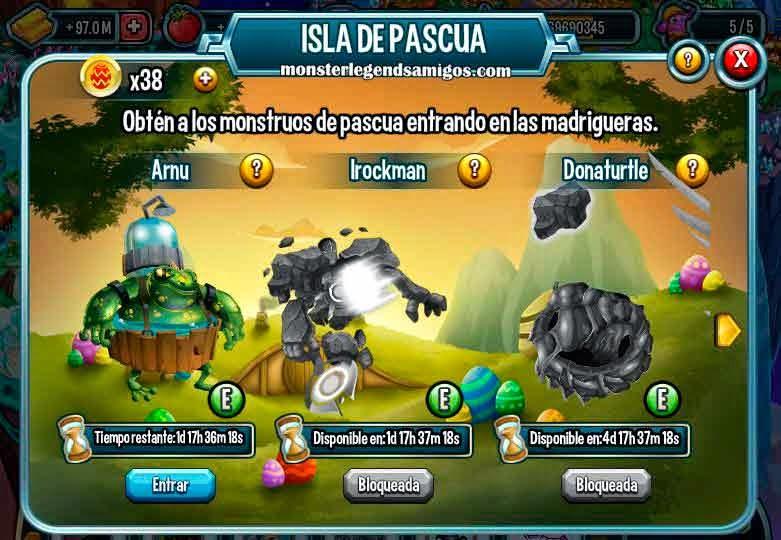 imagen de la primera mision de la isla de pascua de monster legends