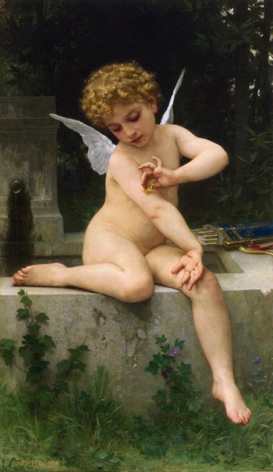 Cupid,Butterfly,Bouguereau