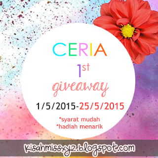 ceria 1st giveaway jom join