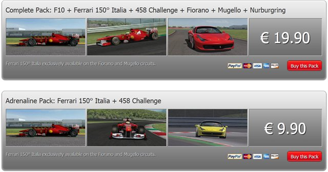 Precios Academia virtual ferrari adrenaline pack