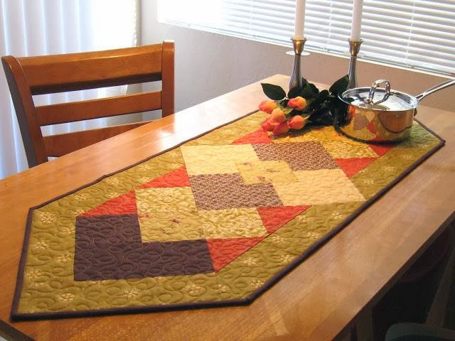 table runner and napkin ring patterns