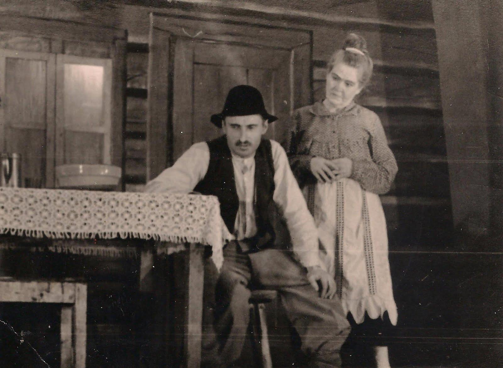 Valles dramatiskais kolektīvs Blaumaņa lugā ,,Trīnes grēki'' 1959. g. - 1