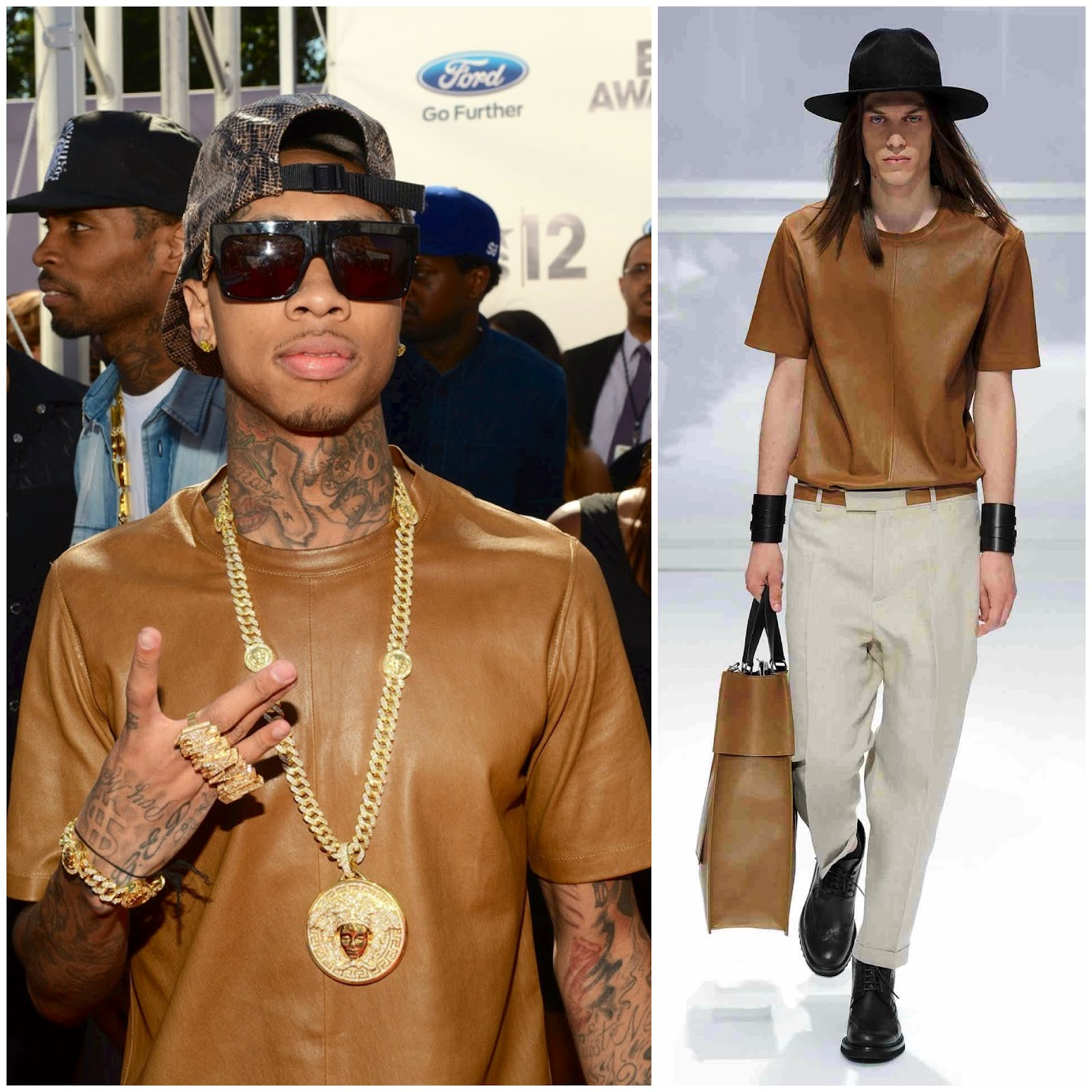 00o00 London Menswear Blogger Celebrity Style Tyga Dior Homme Spring Summer 2012 SS2012 Luisa Via Roma