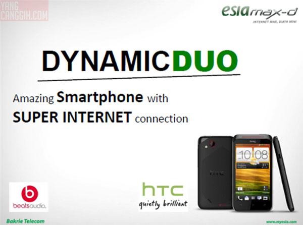 Dynamic Duo Paket Bundling Esia HTC Desire VC