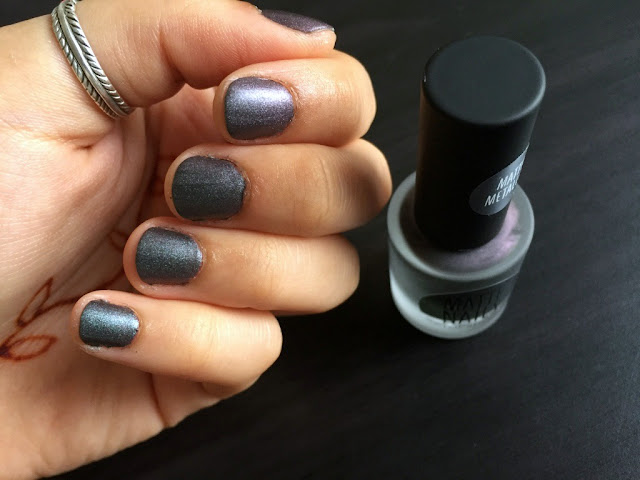 topshop matte metallic nails usual suspects