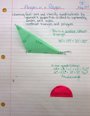 types of angles in a polygon journal entry @ Runde's Room