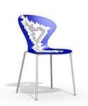 silla cocina diseño AZUL biba apilable