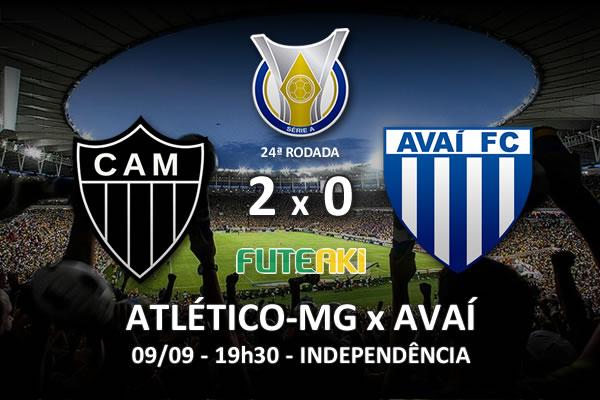 Veja o resumo da partida com os gols e os melhores momentos de Atlético-MG 2x0 Avaí pela 24ª rodada do Brasileirão 2015.