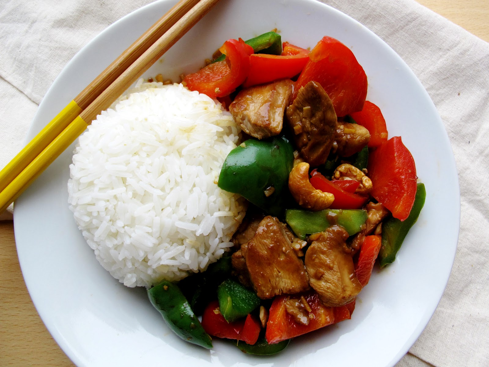 Asian chicken bell pepper recipe