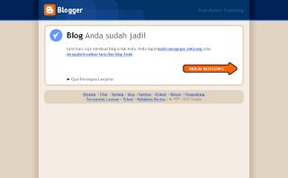 Blogger Anda Selesai