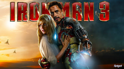 Gwyneth Paltrow and Robert Downy Jr. in Iron Man 3