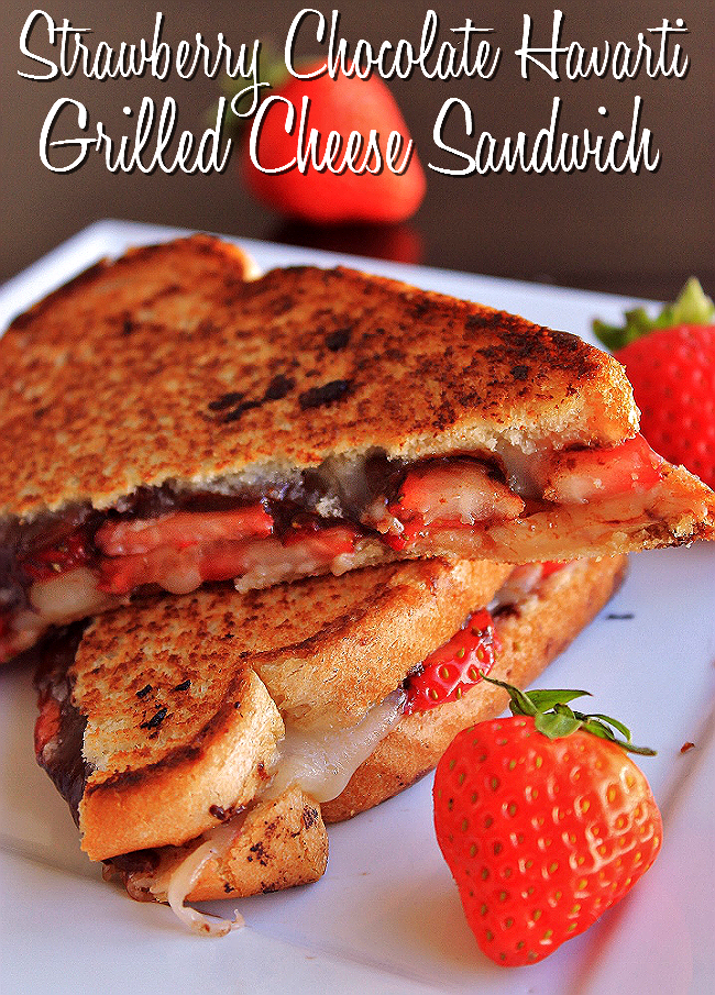 Strawberry Chocolate Havarti Grilled Cheese Dessert Sandwich #ShareYourCheesy #Client
