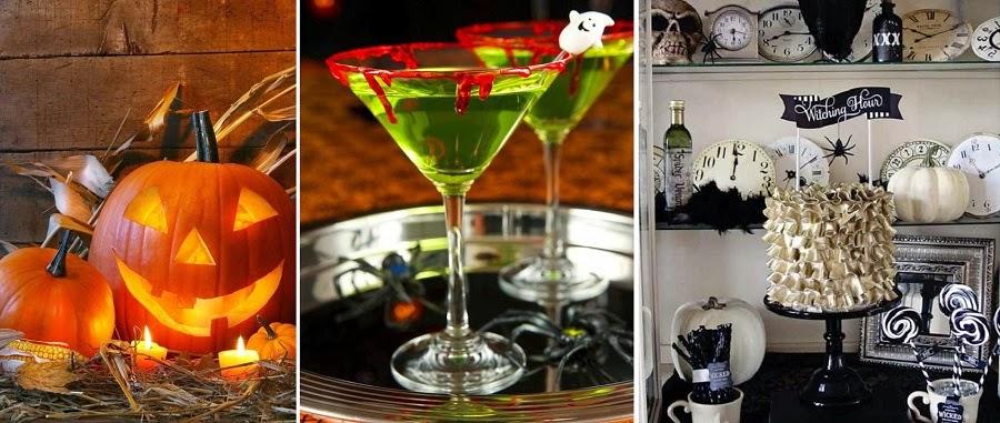 Decoraç u00e3o de Festa Halloween ou Dia das Bruxas para Adultos em Estilo Elegante Inspiraç u00e3o  -> Decoração De Festas De Halloween
