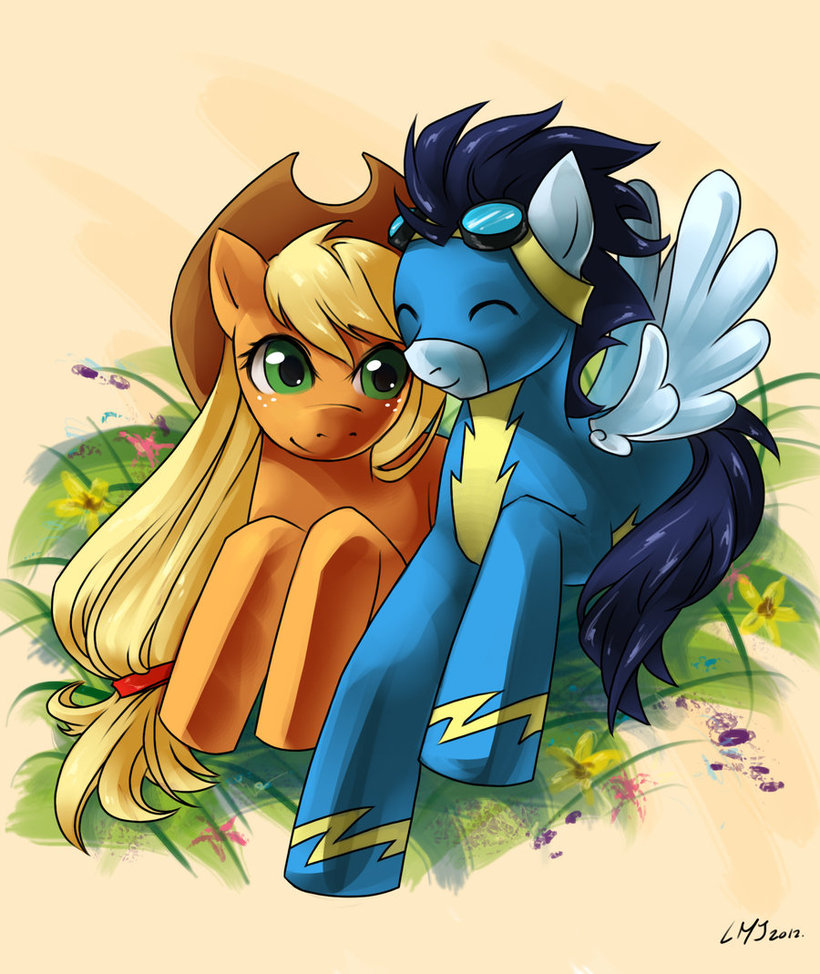 [Image: applejack_and_soarin_by_angelickitty89-d4p9hp2.jpg]