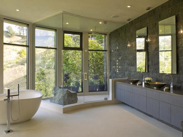 Desain Kamar Mandi Mewah Dengan Shower Pemanas