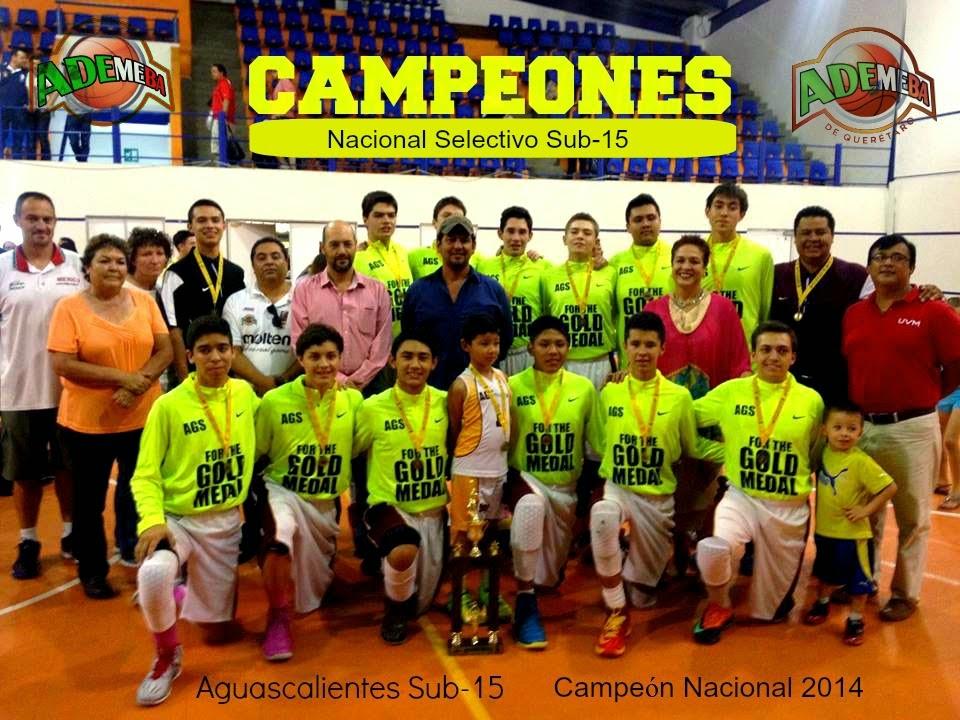 Aguascalientes Nacional Sub-15 de ADEMEBA 2014