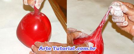 Forma para gesso de bechiga (balão)