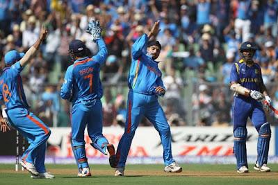 Harbhajan celebrating wicket of Tillakaratne Dilshan