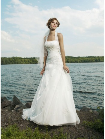 My wedding dress halter wedding dresses for large chest for Wedding dresses for broad shoulders