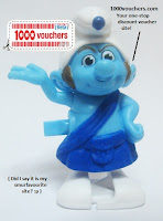 McDonald's The Smurfs Happy Meal: Introducing Gutsy Dancer (and 1000vouchers.com :p)