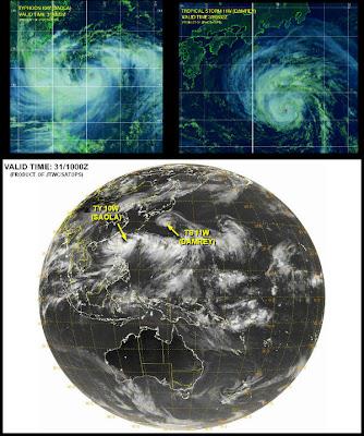 Tormentas Saola y Damrey se acercan a la costa Este de China