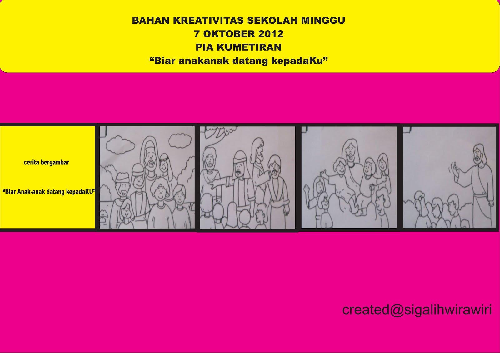 kreativitas sekolah minggu 7 oktober 2012 pia kumetiran biar anak anak