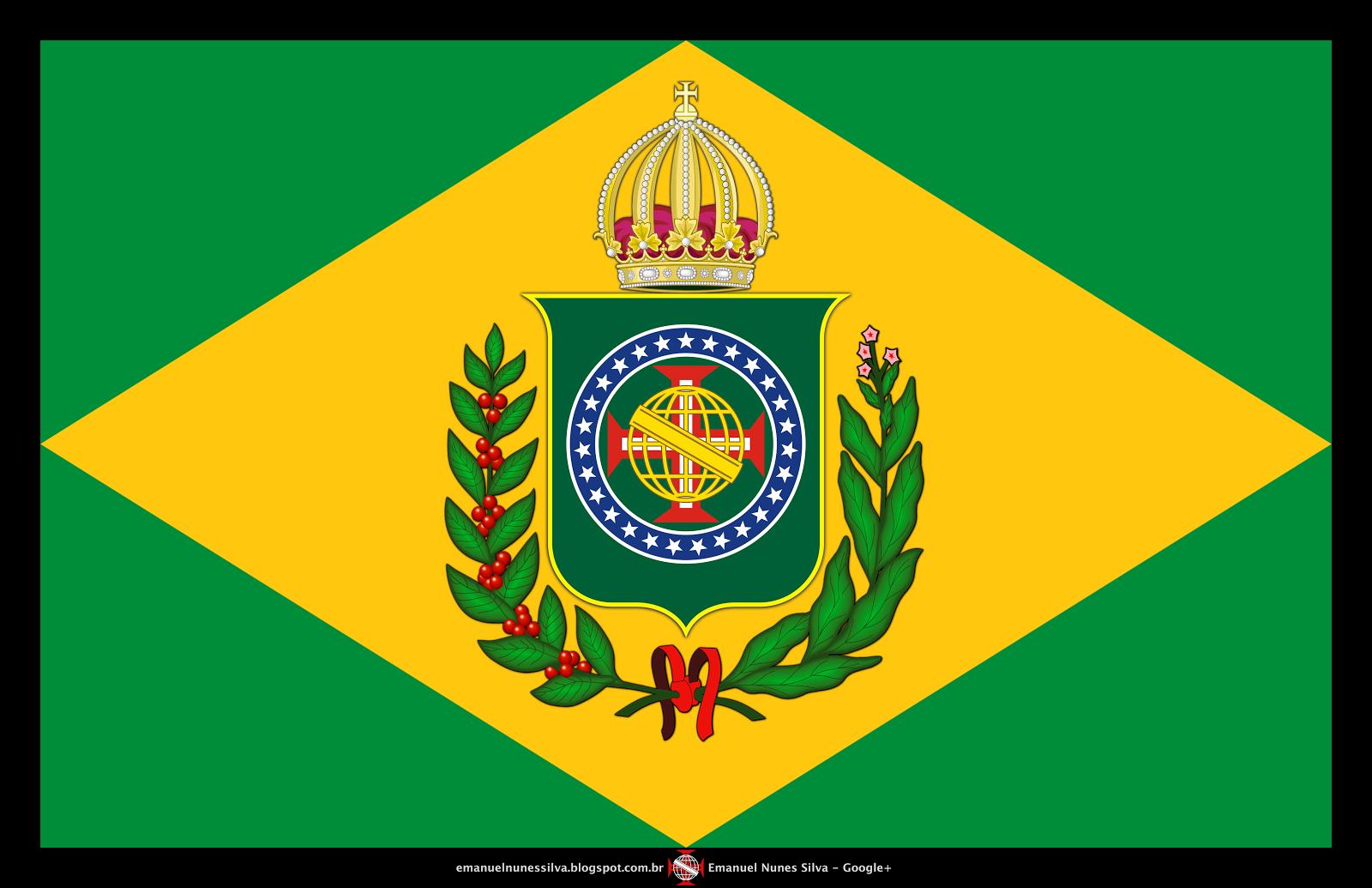 Bandeira do Brasil Imperial - Modelo (10 X 16) - Atualizada - Crédito: Emanuel Nunes Silva