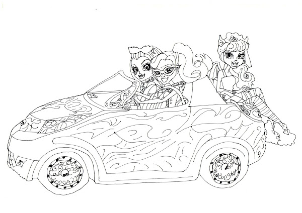 Free Printable Baby Monster High Coloring Pages ...