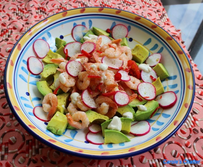 Carole's Chatter: Warm Prawn and Avocado Salad
