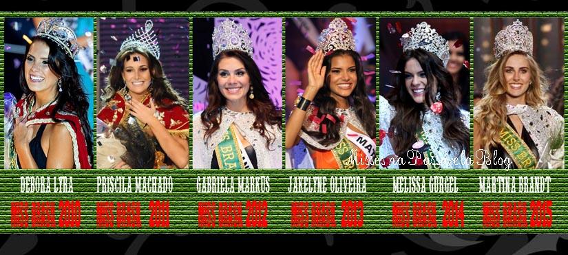 MISS HOMENAGEM - MISSES BRASIL ANOS 2010 a 2015