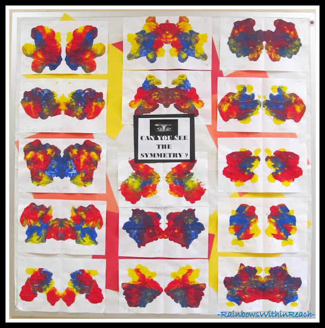 photo of: Symmetry Blotto Studies in the Art Room via RainbowsWithinReach Bulletin Board RoundUP