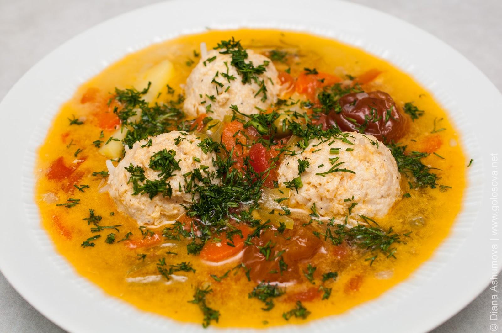 Суп из куриных тефтелей рецепт