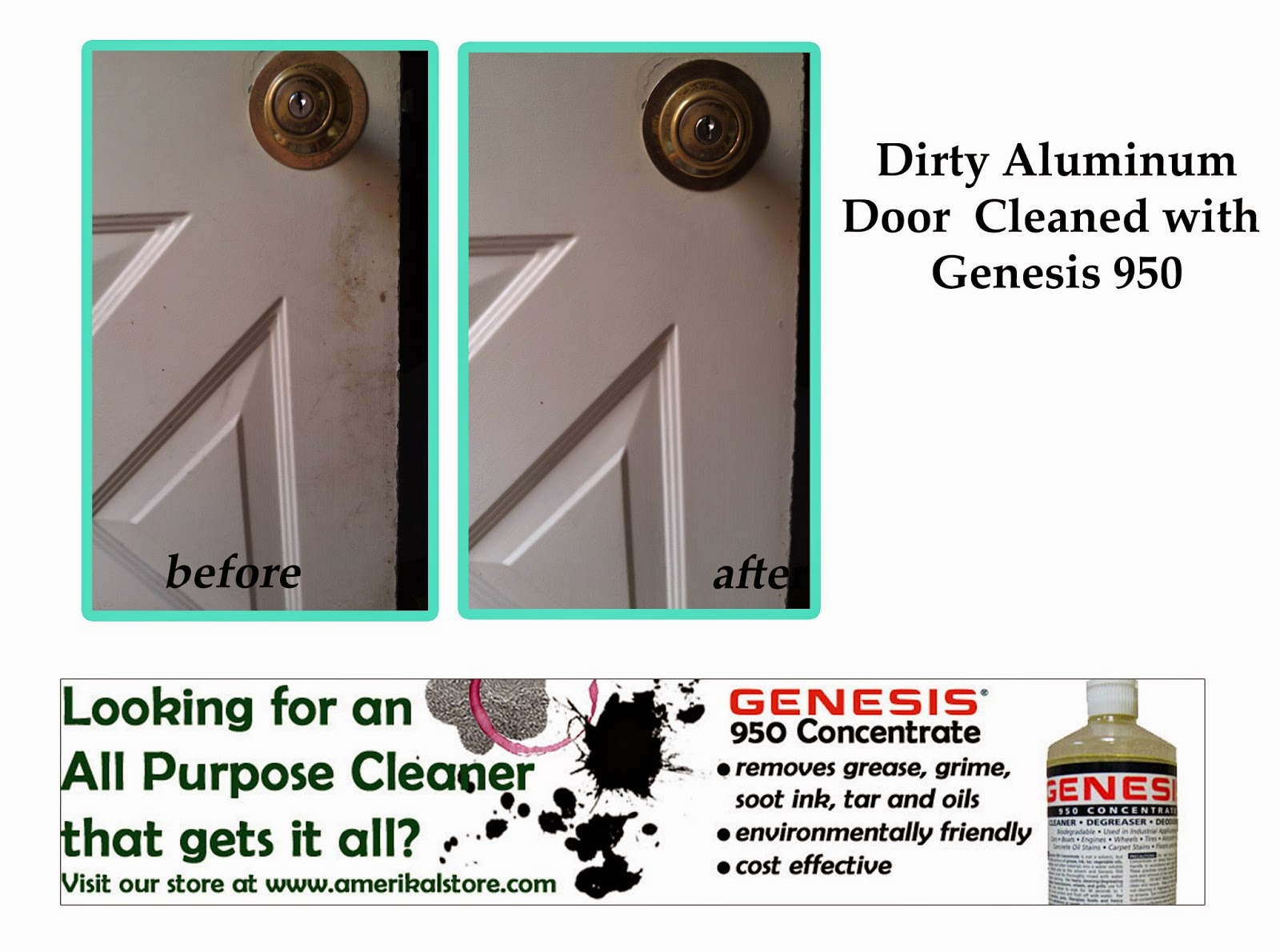 Clean Aluminum Doors & Siding
