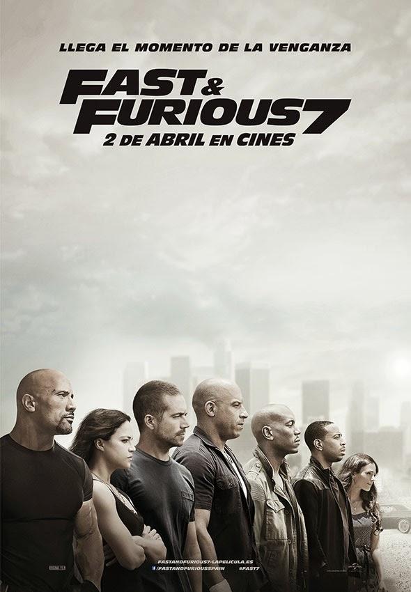 Póster en español de Fast & Furious 7