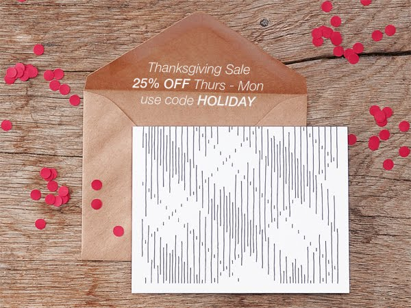 Thanksgiving Sale - 25% OFF!