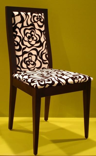 Decorando dormitorios: lindas sillas de comedor tapizadas modernas