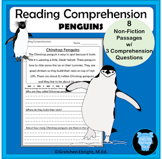 https://www.teacherspayteachers.com/Product/Reading-Comprehension-Penguins-Passages-and-Questions-2254068