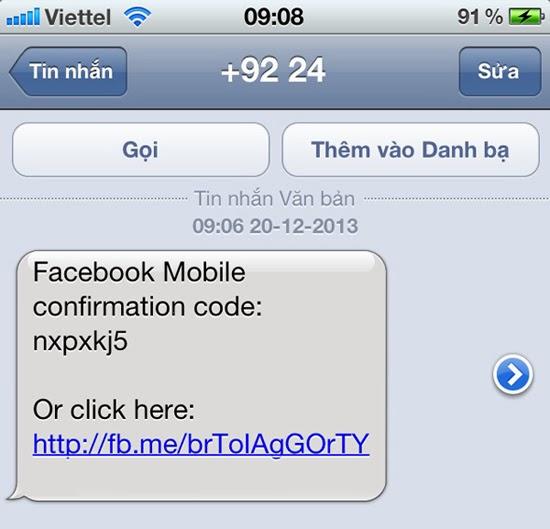 Hướng dẫn lấy mã xác nhận tài khoản facebook bằng số Viettel